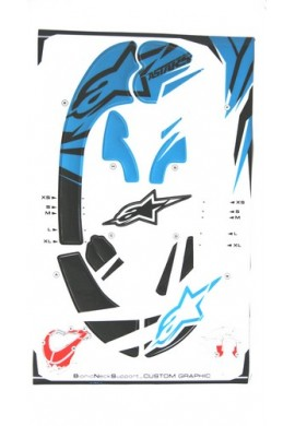 Alpinestars Bionic Neck Support Decal Kit Blue Black