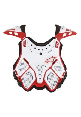 Alpinestars A10 BNS Chest Protector White Red