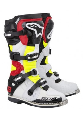 Alpinestars Tech 8 RS Boots White Yellow Red