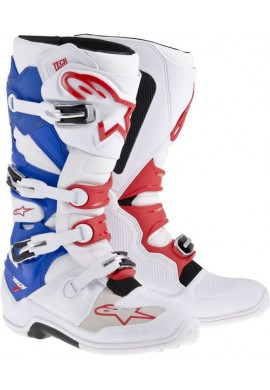 Alpinestars Tech 7 Boots White Red Blue