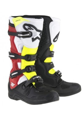 Alpinestars Tech 5 Boots Black White Neon