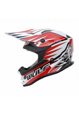 Wulf Cub Advance Helmet - Red