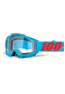 2016 100% YOUTH Accuri MX Motocross Goggles - Acidulous Cyan - Clear Lens