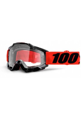 2016 100% Accuri MX Youth Motocross Goggles - Inferno - Clear Lens