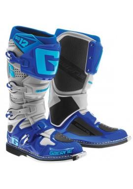 2016 Gaerne SG12 Motocross Boots - Cyan Blue Grey