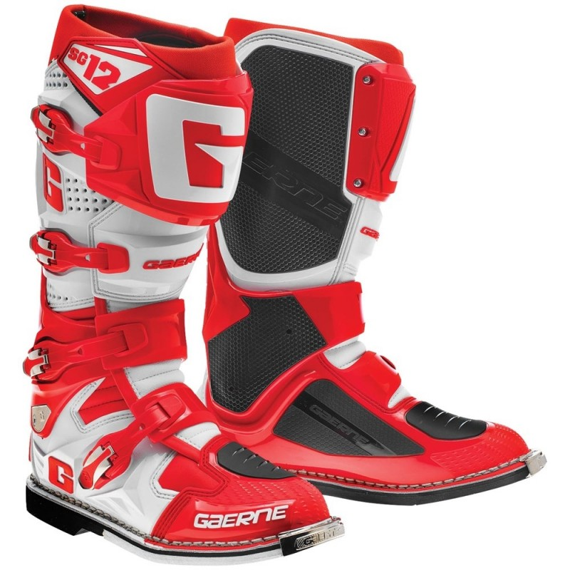 2016 Gaerne Sg12 Motocross Boots Red White Puremx