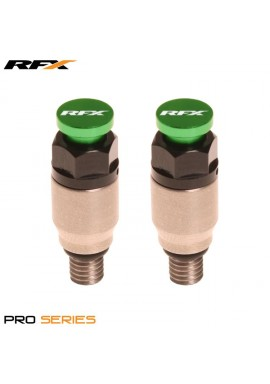 RFX Pro Fork Air Bleeder2 M5x0.8 (Stainless/Green) Kayaba/Showa