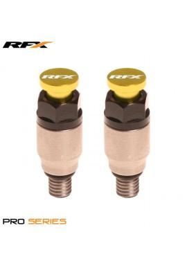 RFX Pro Fork Air Bleeder2 M5x0.8 (Stainless/Yellow) Kayaba/Showa