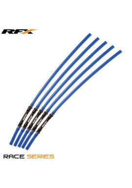 RFX Race Vent Tube - Long Pipe Inc 1 Way Valve (Blue) 5 pcs