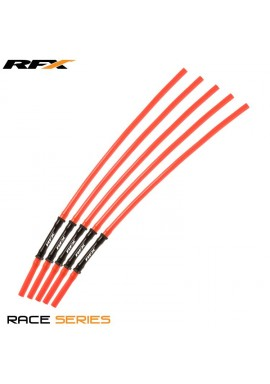RFX Race Vent Tube - Long Pipe Inc 1 Way Valve (Orange) 5 pcs