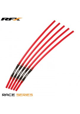 RFX Race Vent Tube - Long Pipe Inc 1 Way Valve (Red) 5 pcs