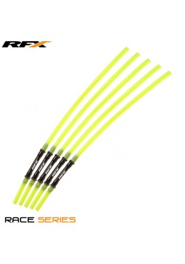 RFX Race Vent Tube - Long Pipe Inc 1 Way Valve (Yellow) 5 pcs