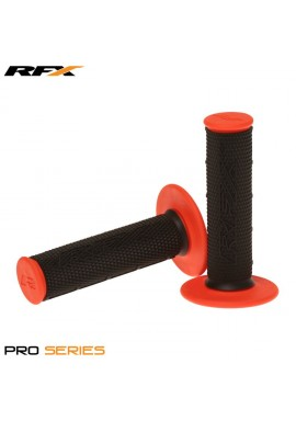 RFX Pro Series Dual Compound Grips Black Centre (Black/Orange) Pair