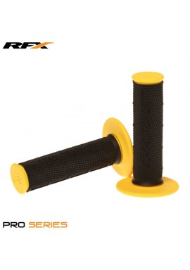 RFX Pro Series Dual Compound Grips Black Centre (Black/Yellow) Pair