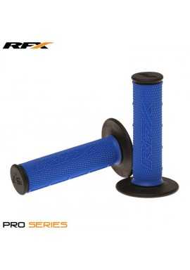 RFX Pro Series Dual Compound Grips Black Ends (Blue/Black) Pair