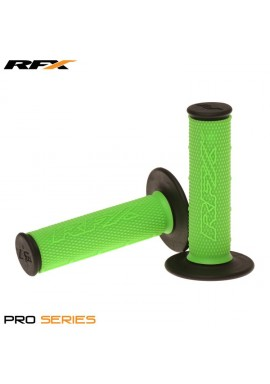RFX Pro Series Dual Compound Grips Black Ends (Green/Black) Pair