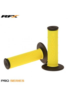 RFX Pro Series Dual Compound Grips Black Ends (Yellow/Black) Pair
