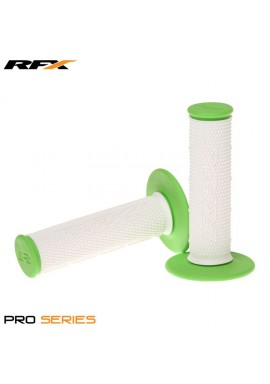 RFX Pro Series Dual Compound Grips White Centre (White/Green) Pair