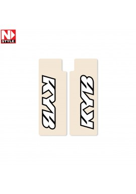 N-Style Upper Fork Decals KYB White