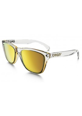 Oakley Frogskin Sunglasses Clear 24K Iridium