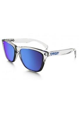 Oakley Frogskin Sunglasses Clear Sapphire Iridium