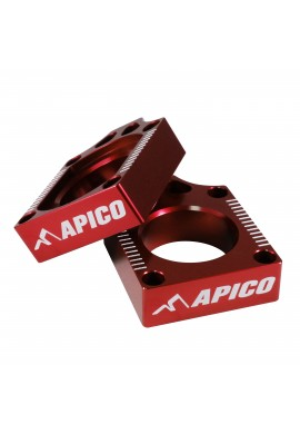 Apico Kawasaki / Suzuki Axle Blocks KX03-08, KXF250/450 04-15, RMZ250/450 04-15 - Red