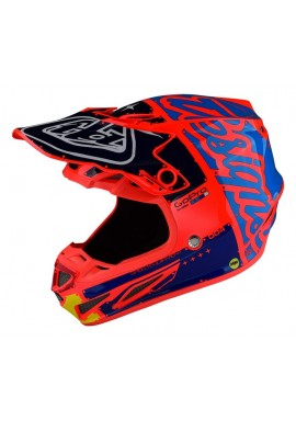 2017 Troy Lee Designs SE4 Factory Orange Motocross Helmet