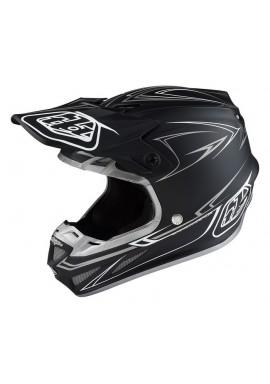 2017 Troy Lee Designs SE4 Pinstripe Black Motocross Helmet