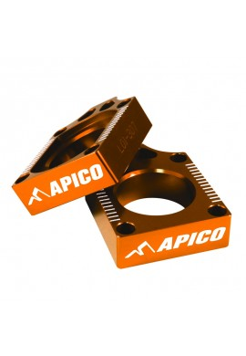 Apico KTM Axle Blocks SX65 02-15 - Orange