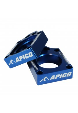 Apico Yamaha Axle Blocks YZF250/450 09-13 WRF250/450 10-15 - Blue