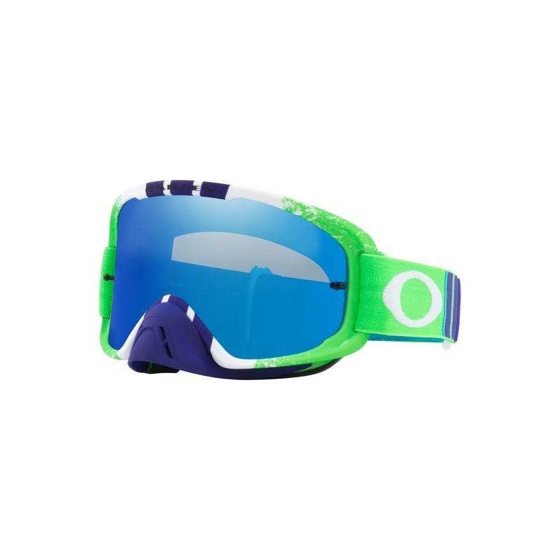 Oakley O Frame Goggle 2.0 Pinned Race Green/Blue- Black Ice Iridium ...