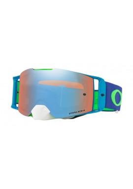 2018 Oakley Front Line Goggle Flo Green/Blue- Prizm Sapphire Iridium Lens