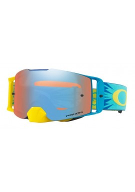2018 Oakley Front Line Goggle High Voltage Blue/Yellow- Prizm Sapphire Iridium Lens