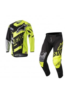 2018 Alpinestars Techstar Screamer Motocross Kit Black/Yellow Flo/Grey