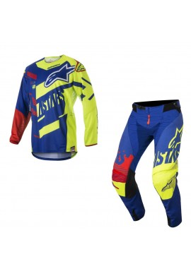 2018 Alpinestars Techstar Screamer Motocross Kit Blue/Yellow Flo/Red