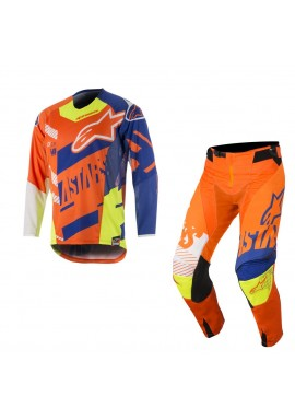 2018 Alpinestars Techstar Screamer Motocross Kit Orange Flo/Blue/White/Yellow Flo