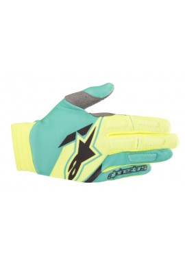 2018 Alpinestars Aviator Motocross Glove Yellow Flo/Teal