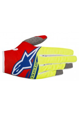 2018 Alpinestars Radar Motocross Glove Red/Yellow Flo/Blue