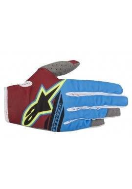 2018 Alpinestars Radar Motocross Glove Rio Red/Aqua/Yellow Flo