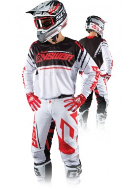 2018 ANSWER A18 TRINITY WHITE/RED MOTOCROSS KIT COMBO