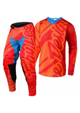 2018 Troy Lee Designs SE Air 18.1 Shadow Honey Red Motocross Kit Combo