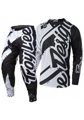 2018 Troy Lee Designs SE Air 18.1 Shadow White Black Motocross Kit Combo