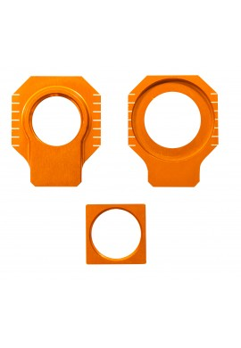 Apico KTM / Husqvarna Axle Blocks SX/SX-F 125-530 00-12, EXC/EXC-F125-530 00-16 - Orange