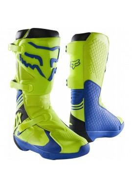 2021 Fox Comp Boot Yellow Blue