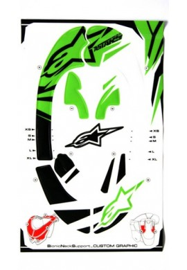 Alpinestars Bionic Neck Support Decal Kit Green Black