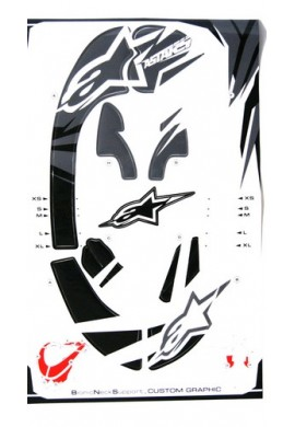 Alpinestars Bionic Neck Support Decal Kit Grey Black