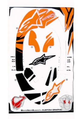 Alpinestars Bionic Neck Support Decal Kit Orange Black