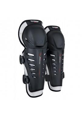 2021 Fox Kids Titan Race Knee/Shin Guards [Black]