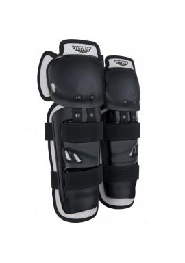 2021 Fox Kids Titan Sport Knee/Shin Guards [Black]
