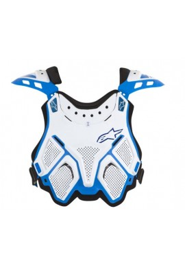 Alpinestars A10 BNS Chest Protector White Blue